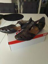 """chaussures/sandales """"Rieker"""" pointure 39 à scratch - gris foncé/argenté"""