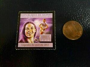 Carli Lloyd Female SOCCER 2012 Republique De Guinee Perforated Stamp Olympics
