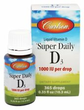 Carlson Labs Super Daily D3 Liquid Vitamin D 365 Drops 1000 IU 0.35 oz