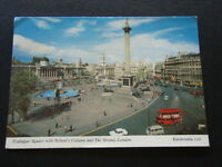 TRAFALGAR SQUARE NELSON'S COLUMN THE STRAND LONDON 1977 - POSTCARD