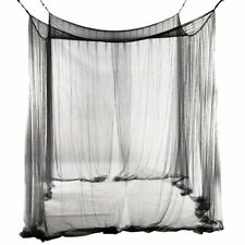 4 Corners Bed Mosquito Net For Queen/King Sized Beds Black 190x210x240cm Nets