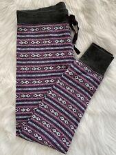 Gap Body Fair Isle M Pajama Jogger Lounge Sleep Knit Legging Multicolor Print