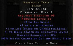 Harlequin Crest Shako - Diablo 2 Resurrected Softcore PC