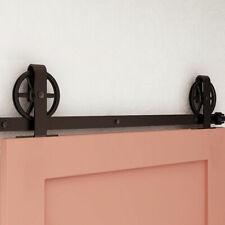 Sliding Barn Door Hardware Kit 4-20FT Rail Track Set for Single Wooden Door