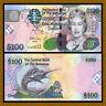 Bahamas 100 Dollars, 2009 P-76 Blue Marlin Queen Elizabeth II Unc