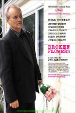 BROKEN FLOWERS MOVIE POSTER DS Rare Style B 27x40 BILL MURRAY JULIE DELPHY