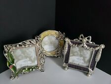 Vintage Jewel by Lenox - Set of 3 Silver Plated Picture Frames - Discontinued