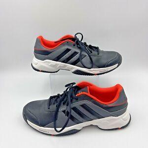 2015 Adidas Barricade Tennis Size 10 Adiprene + Black Grey Orange EUC
