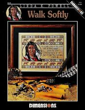 """DIMENSIONS #235 """"Walk Softly"""" Counted Cross Stitch Chart - By Linda K. Powell"""