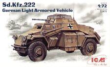 ICM 1/72 sd.kfz.222 clair armé Véhicle #72411