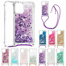 Case For iPhone 11 Pro Max XS XR X 8 7 6S SE2 Luxury Bling Quicksand Strap Cover