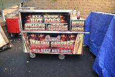 Commercial Hot Dog / Sausage Cart Street Vendor Flat Grill