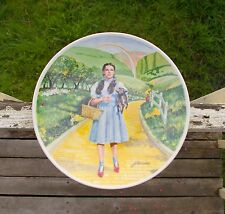 """Wizard Of Oz 8 1/2"""" Plate Over The Rainbow Knowles Dorothy Toto James Auckland"""