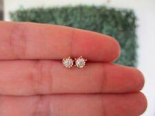 .05 CTW Diamond Earrings 18k Twotone Gold E387 sep