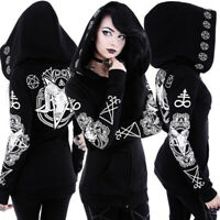 Womens Prom Gothic Warm Hooded Steampunk Jacket Coats Halloween Cosplay Costumes