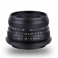 Kaxinda 25mm F/1.8 APS-C Manual Focus Lens For Olympus Panasonic M4/3 Mount