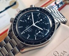 Omega Speedmaster 38mm Reduced Black Dial Automatic Chronograph watch + Box