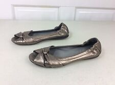 PALLADIUM Leather Peep Toe Flats Women's 7