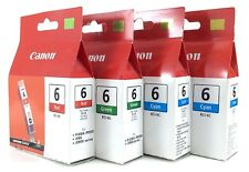 4 Expired Canon Ink Printer Tank #6 BCI-6G BCI-6R BCI-6C Unopened Sealed I051
