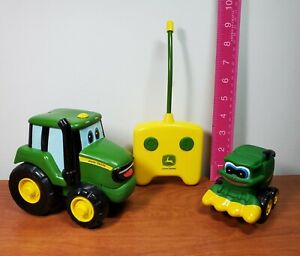 John Deere Tomy Johnny Tractor Remote Control and Corey Combine toy