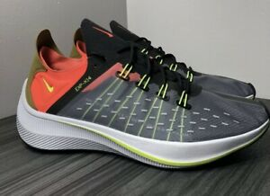 Nike EXP-X14 Men's Shoes Black Volt Running Synthetic AO1554-001 Sneakers, 10.5
