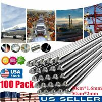 100PCS Aluminum Solution Welding Flux-Cored Rods Wire Brazing Rod 50cm*1.6mm/2mm