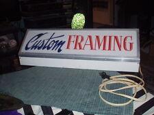 Vintage CUSTOM FRAMING BOX LIGHT SIGN ADVERTISEMENT Display Works !