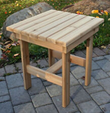 Square Side Table - Western Red Cedar