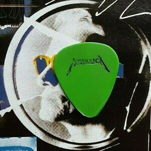 METALLICA logo green guitar pick - BRAND NEW LISTING