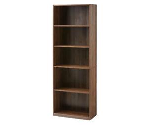 Mainstays 71 5 Shelf Bookcase Canyon Walnut