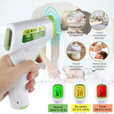 Termometro a infrarossi Senza contatto Febbre Temp metro LCD digitale Adulti