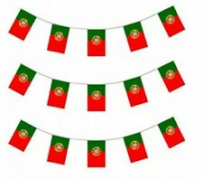 Portugal Portuguese Flag PVC Plastic Celebration Pennant Bunting 33ft