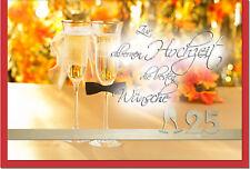 Congratulazioni mappa per ARGENTO-matrimonio con motivo una romantica e ornamento in legno