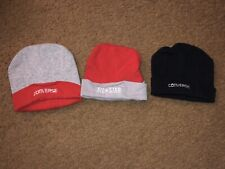 Converse 0-6 Month Baby Black Gray & Red Cap Hat - Set Of 3 Eeuc