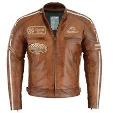 Herren Motorrad Leder Jacke Cafe Racer Motorrad Leder Jacke Biker Jacke Neu