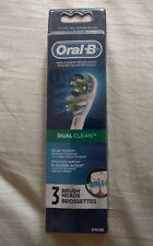 Oral-B Dual Clean Replacement Electric Toothbrush Brush Heads, 3 Count NEW