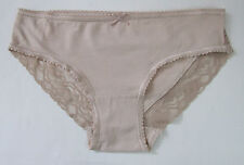 Ladies/Girls Sze 8 EX Chainstore Knickers Panties Briefs Stretchy Cotton Natural