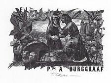 PETER LAZAROV: Exlibris für P. A. Burggraaf