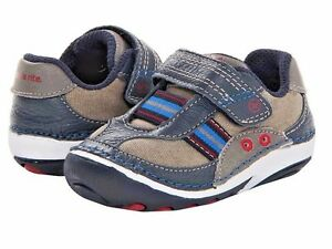 Stride Rite Little Boys Soft Shoes  Stone/Navy/Red Infant Boys Size 3 Wide