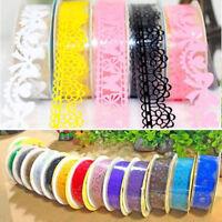 2PCS Lace Sticky Paper SELF Adhesive Washi Tape Sticker Scrapbook Decorative DIY