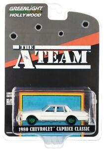 "Chase 1980 CHEVROLET CAPRICE CLASSIC WHITE ""THE A-TEAM"" 1/64 GREENLIGHT 44865 C"