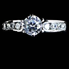 SIMPLY ELEGANT BRILLIANT CLEAR CZ ENGAGEMENT RING SZ-4_925 Sterling Silver
