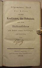 KARL HIMLY: LEHRE VON DEN KRANKHEITEN, signierter Privatdruck 1823, RAR!