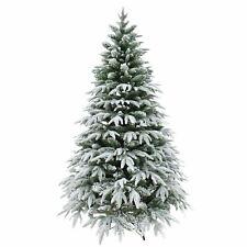 6ft 180cm Artificial Christmas Tree Snow Covered Elegant Xmas Home Decorations