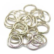 50 Split Rings Keyrings Keychains 15mm Silver Tone Metal Keys Holder