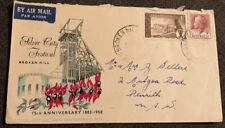 1958 75th Anniversary Of Broken Hill Fdc Airmail Broken Hill Nsw