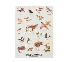 Wild Animals Tea Towel from the Ecologie Range by Gift Republic