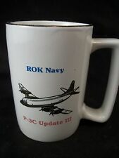 Mug cup ROK Navy P-3C plane Update III Republic of Korea coffee tea aviation art