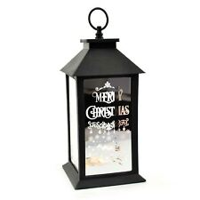Black Christmas Lantern PVC Frame LED Lights Party Home Nativity Decorations