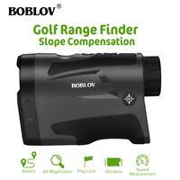 BOBLOV 6x22 Golf Range Finder With Slope Function Flag-Lock 600m Rangefinder